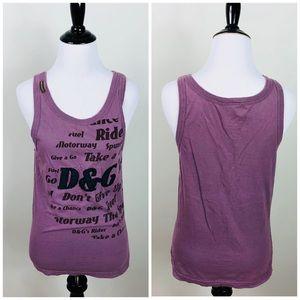 Dolce & Gabbana Purple Cotton Graphic Tank Top M
